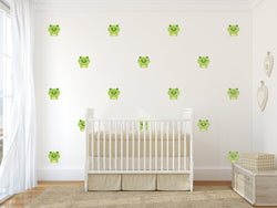 Frog Nursery Wall Art - Amphibian Vinyl Wall Decals For Nurseries, Children's Rooms, And Home Decor