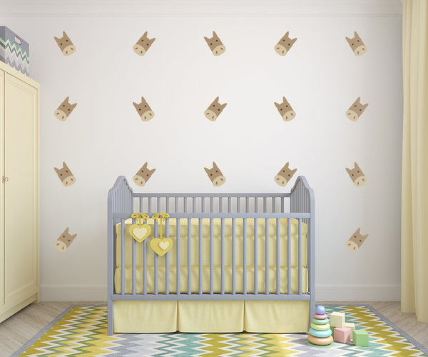 Horses Nursery Wall Art -  Equestrian Theme Vinyl Wall Decals For Baby Boy And Baby Girl Rooms