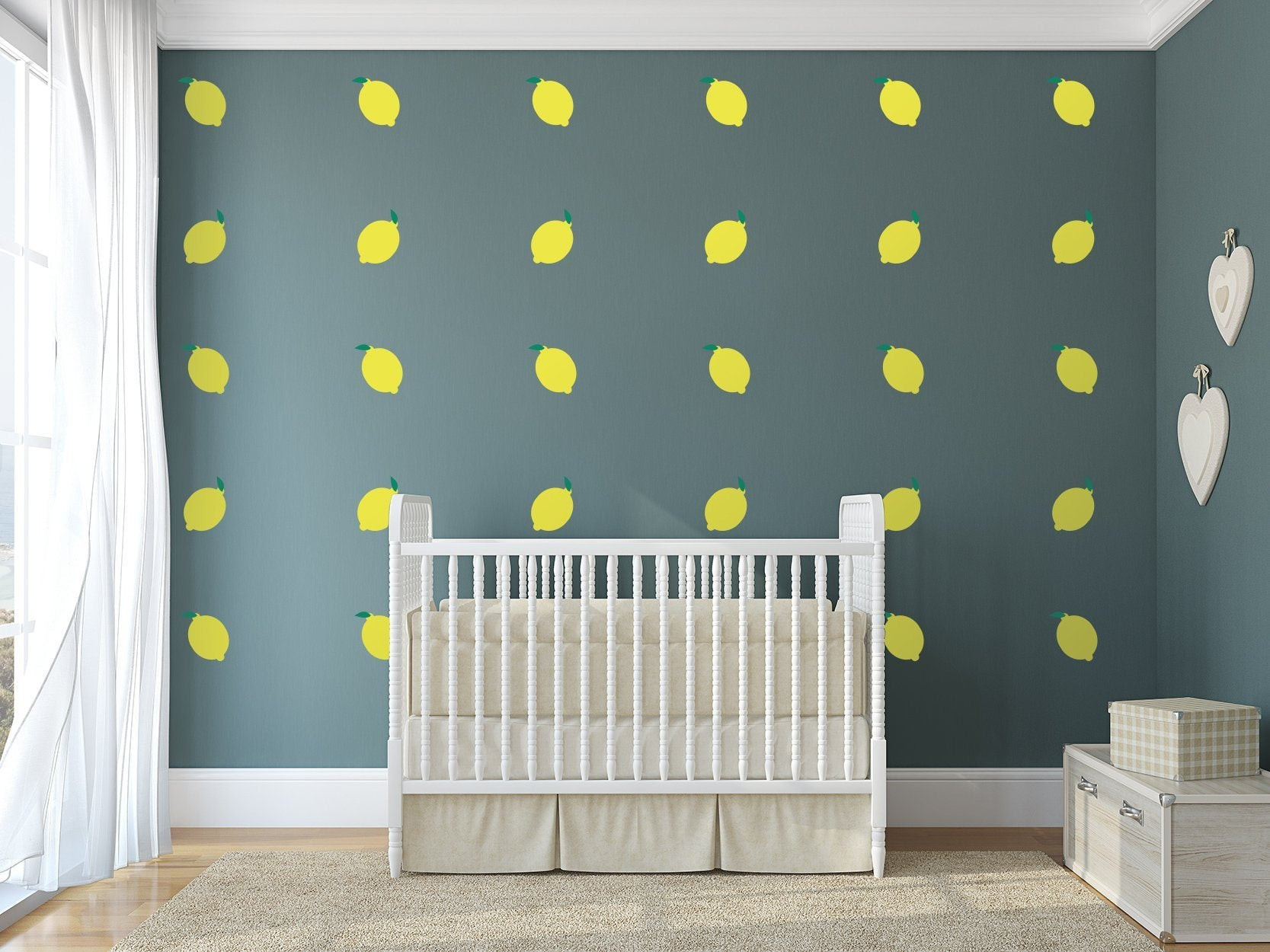 Lemon Nursery Wall Art -  Food Theme Vinyl Wall Decals For Nurseries, Children's Rooms, And Home Decor