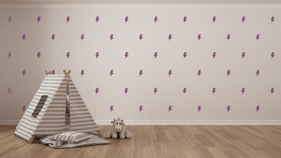 Lightning Bolt Nursery Wall Art - Vinyl Wall Decals For Nurseries, Children's Rooms, And Home Decor