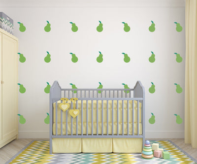 Pear Nursery Wall Art -  Food Theme Vinyl Wall Decals For Nurseries, Children's Rooms, And Home Decor