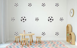 Soccer Balls Nursery Wall Art -  Sports Theme Vinyl Wall Decals For Nurseries, Children's Rooms, And Home Decor