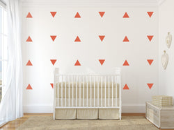 Triangle Nursery Wall Art -  Vinyl Wall Decals For Baby Boy And Baby Girl Rooms
