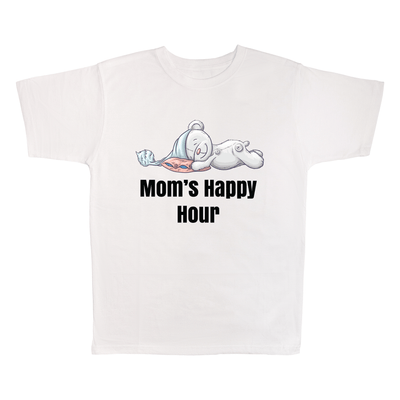 Mom's Happy Hour, 100% Polyester Adult Shirt