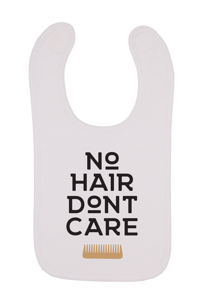 No Hair Don't Care Baby Bib, 0-24 Months