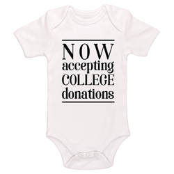 Now Accepting College Donations Baby / Toddler Bodysuit