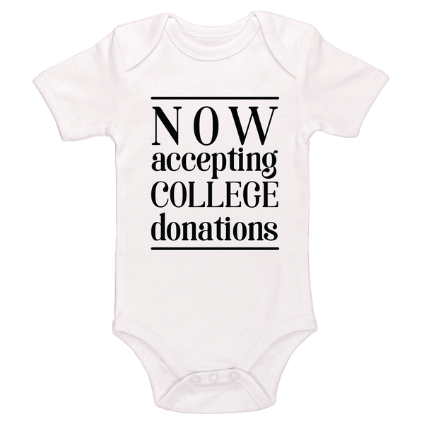 Now Accepting College Donations Bodysuit