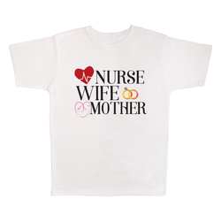Nurse Wife Mother, 100% Polyester Adult Shirt
