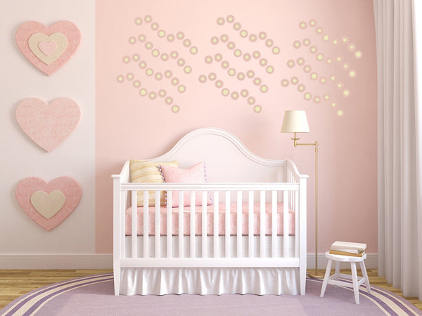 Polka Dot Baby Nursery Wall Art - Vinyl Wall Decals For Baby Boy And Baby Girl Rooms