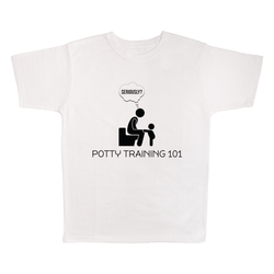 Potty Training 101, 100% Polyester Adult Shirt
