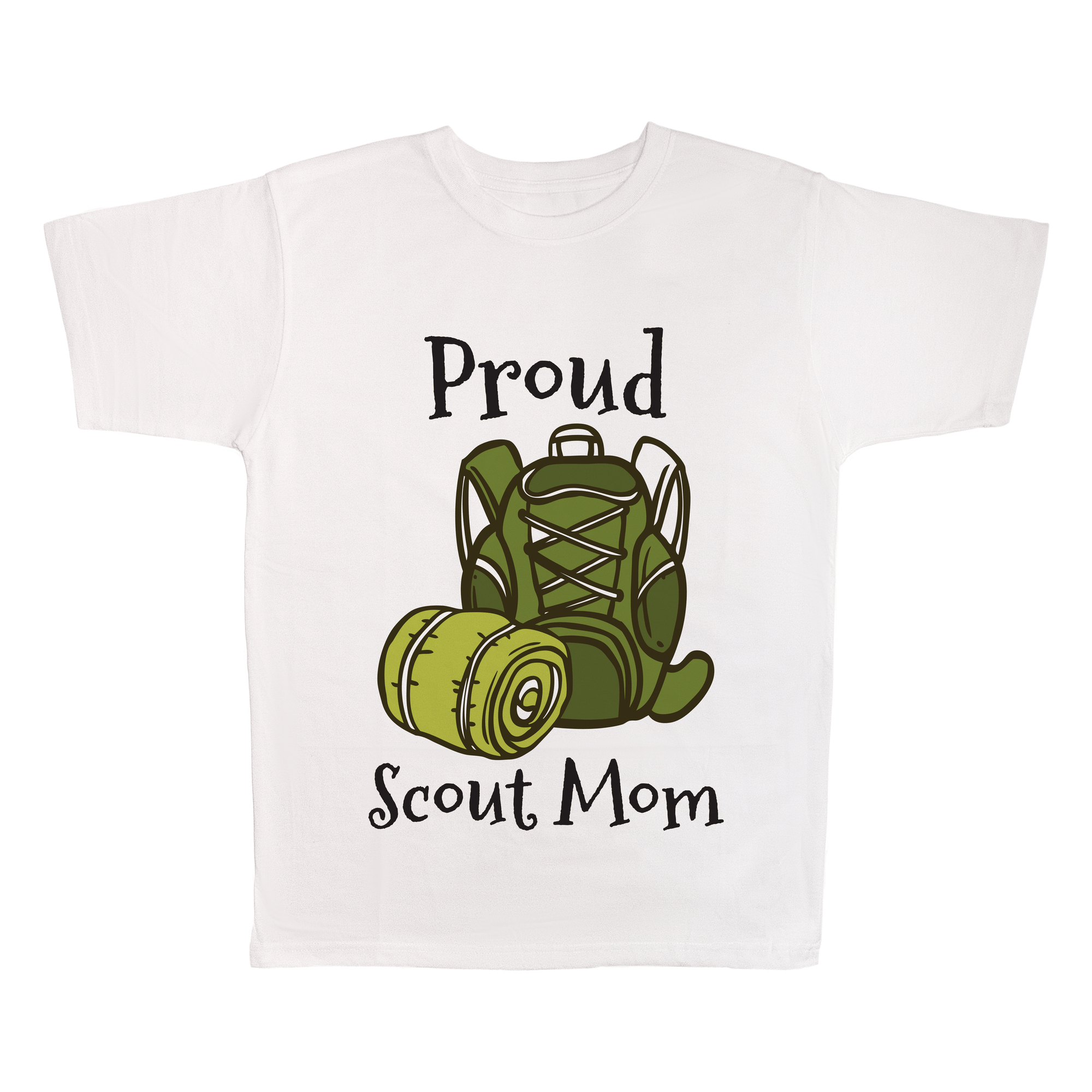 Proud Scout Mom, 100% Polyester Adult Shirt