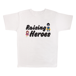 Raising Heroes, 100% Polyester Adult Shirt