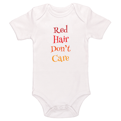 Red Hair Don't Care Baby / Toddler Bodysuit