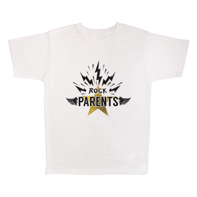 Rock Parents, 100% Polyester Adult Shirt