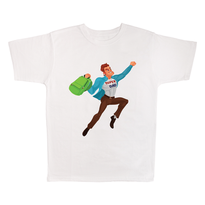 Super Dad, 100% Polyester Adult Shirt