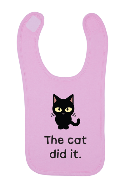 The Cat Did It Baby Bib, 0-24 Months