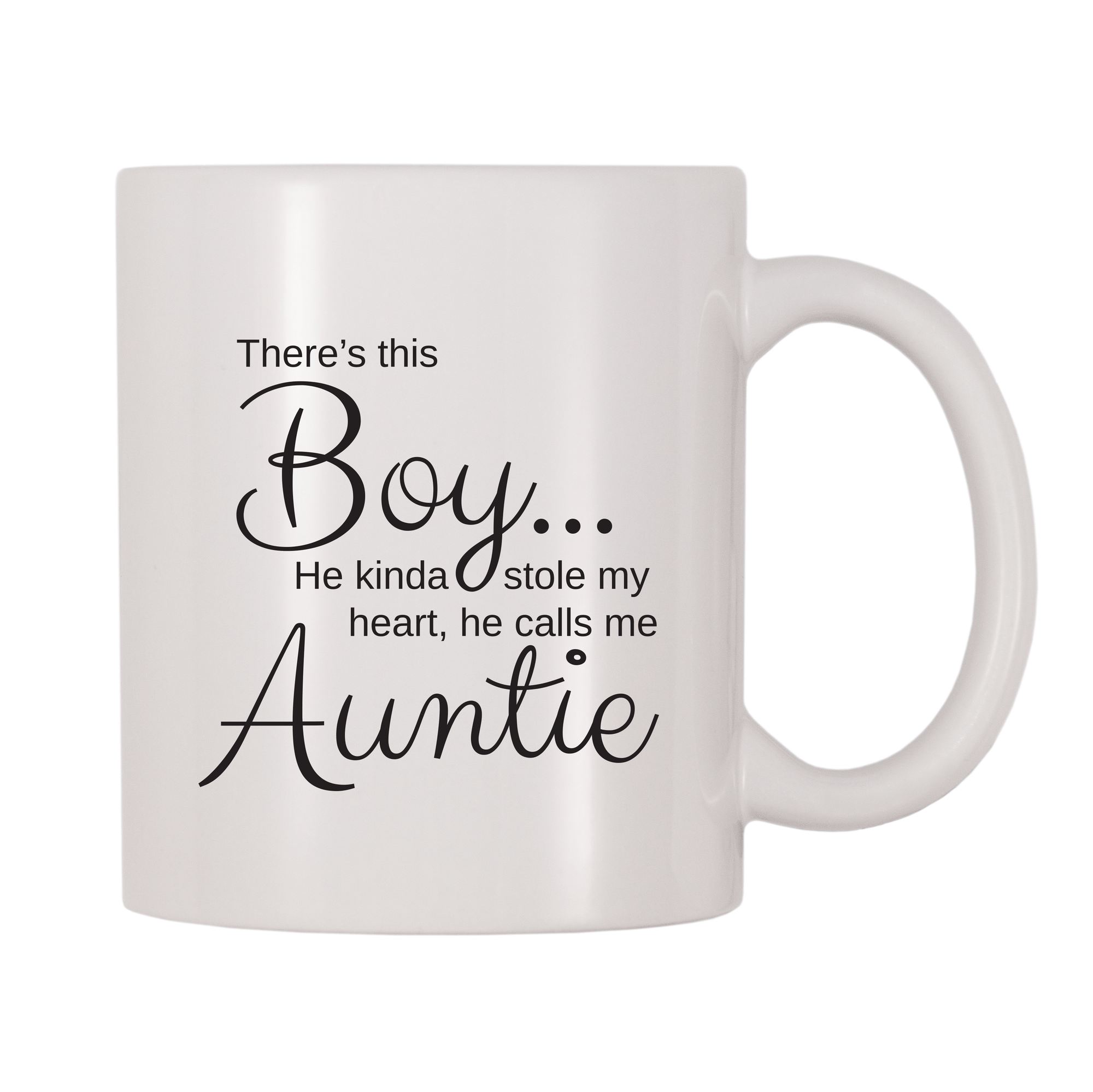 There's This Boy He Kinda Stole My Heart He Calls Me Auntie 11oz Coffee Mug
