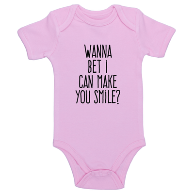 Wanna Bet I Can Make You Smile Baby / Toddler Bodysuit