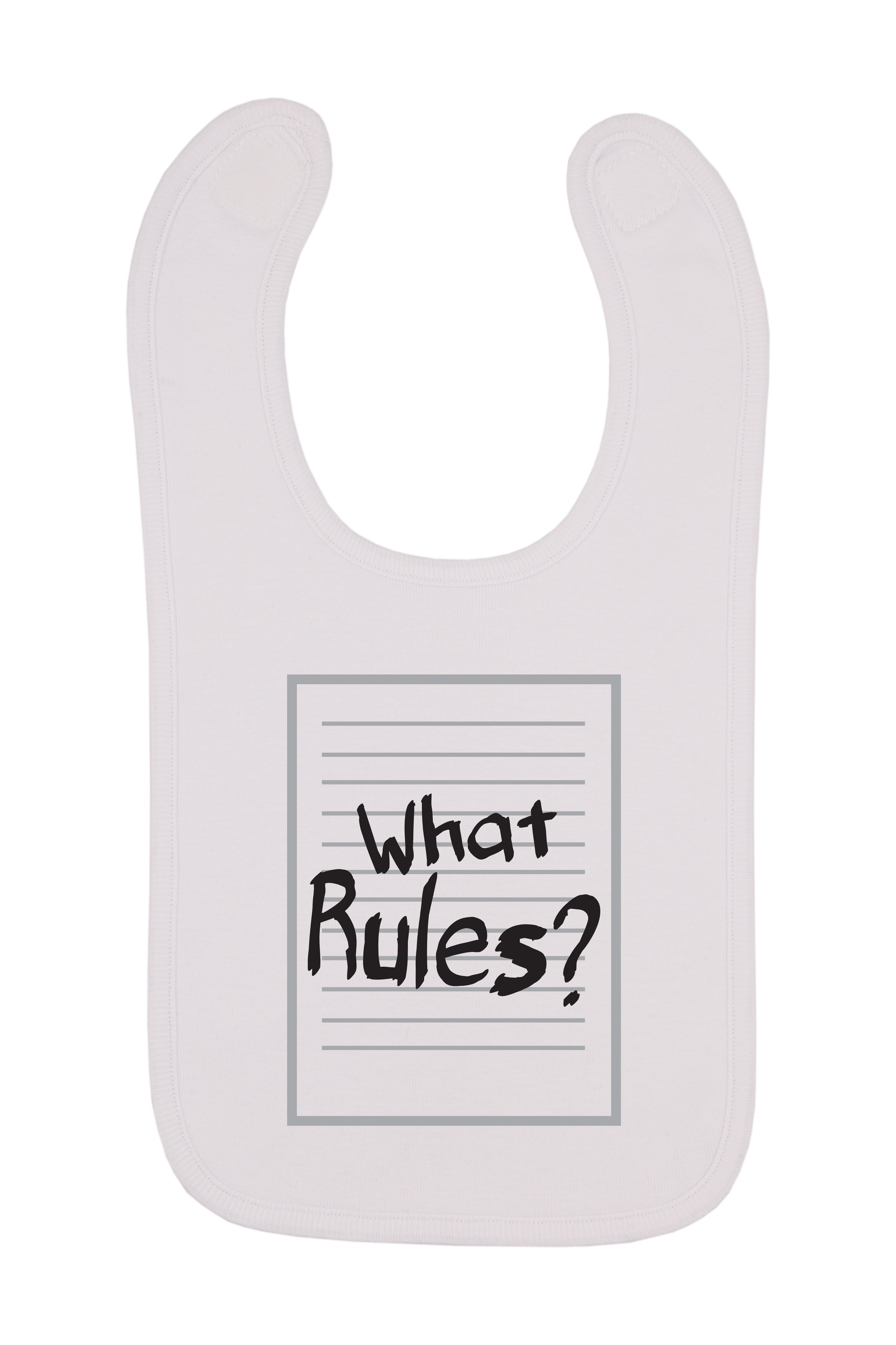 What Rules Baby Bib, 0-24 Months