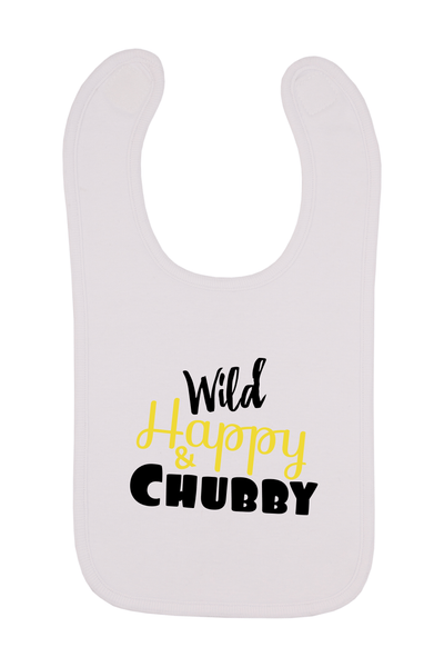 Wild Happy And Chubby Baby Bib, 0-24 Months