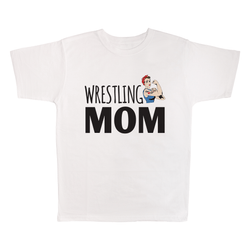 Wrestling Mom, 100% Polyester Adult Shirt