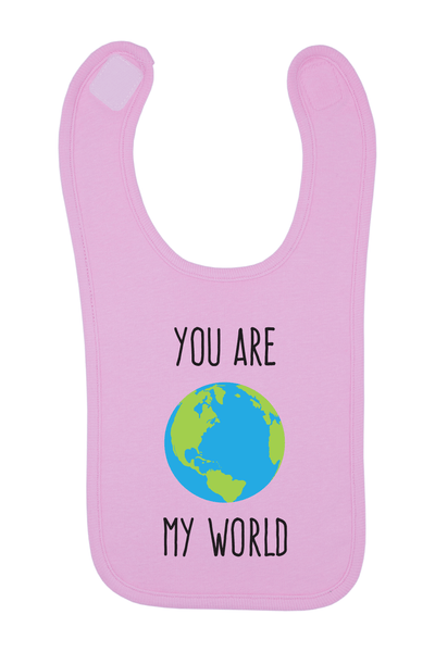 You Are My World Baby Bib, 0-24 Months