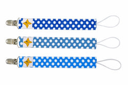 Pacifier Clips 3-Pack - Boys