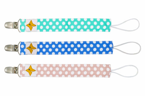 Pacifier Clips 3-Pack - Boys And Girls