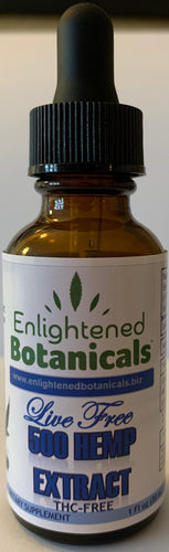 Live Free - Broad Spectrum THC FREE Concentrated Hemp Extract Oil