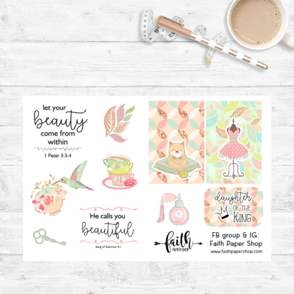 Beauty - Scripture Stickers