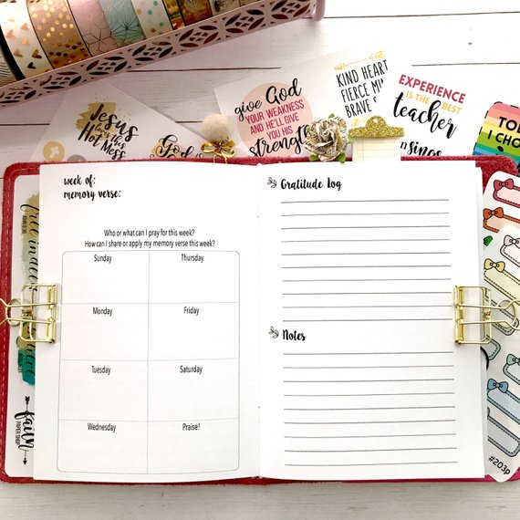 "B6 5x7"" size faith travelers notebook in planner"