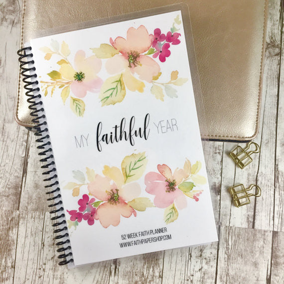 Faith Planner - Weekly Prayer and Gratitude Journal - Delicate Dogwoods - Faith Paper Shop