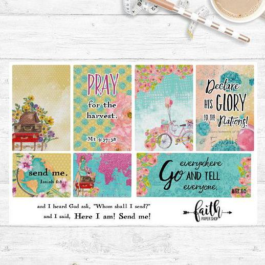 Faith Stickers - Send Me - Faith Paper Shop