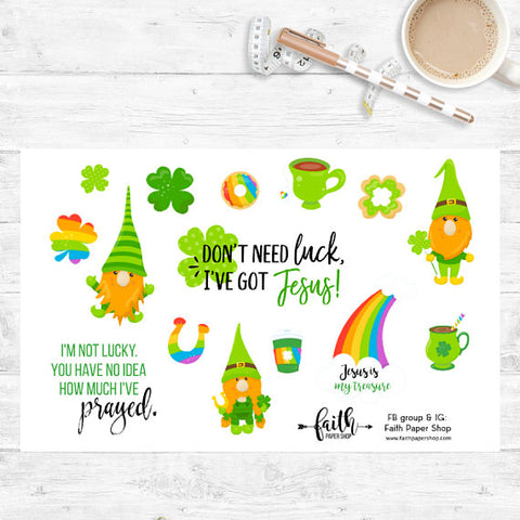 Christian St Patricks Planner Stickers