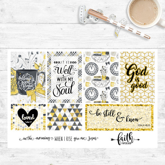 Faith Stickers - Glam Yellow