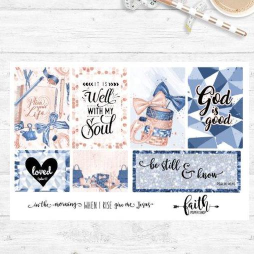Faith box Scripture stickers - Glam Planner Girl