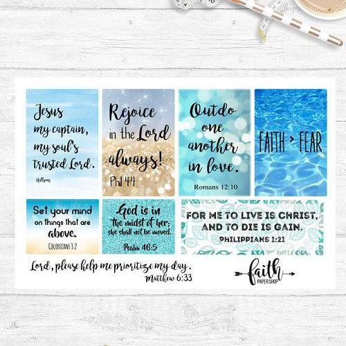 Faith Stickers - Blue Boxes