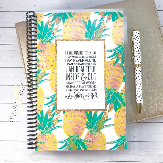 Custom Christian Journal - Pretty Pineapples - Faith Paper Shop