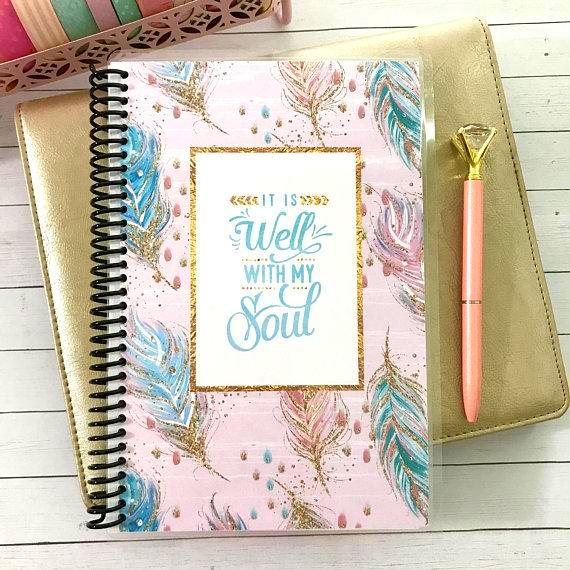 Custom Christian Journal - It Is Well - Faith Paper Shop