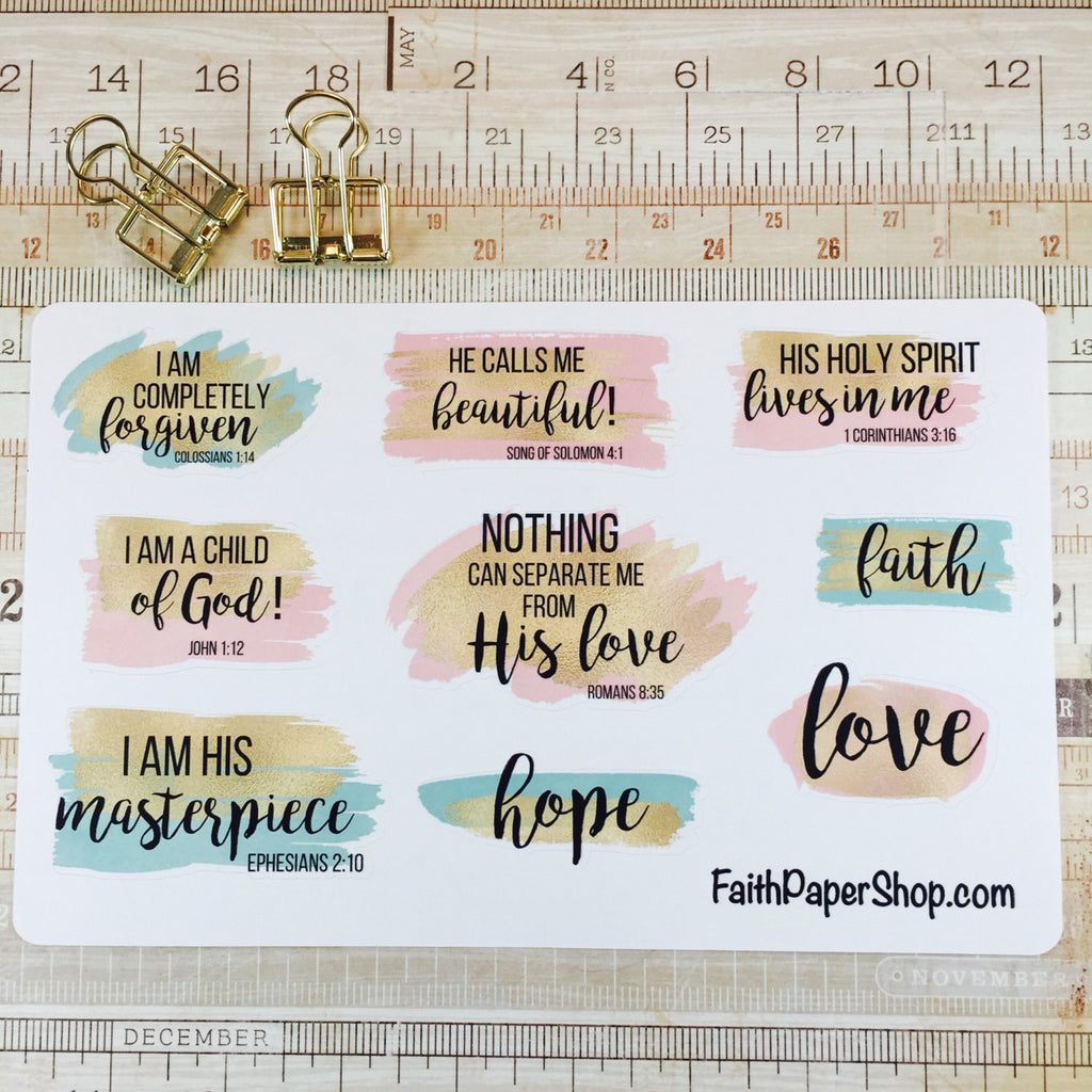 My Identity in Christ - Scripture Stickers - Faith Paper Shop