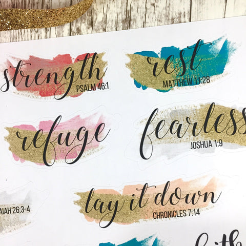 His Truths - Scripture Stickers