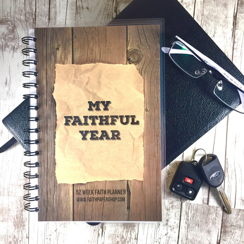 Mens Faith Planner - Weekly Prayer and Gratitude Journal - Faith Paper Shop
