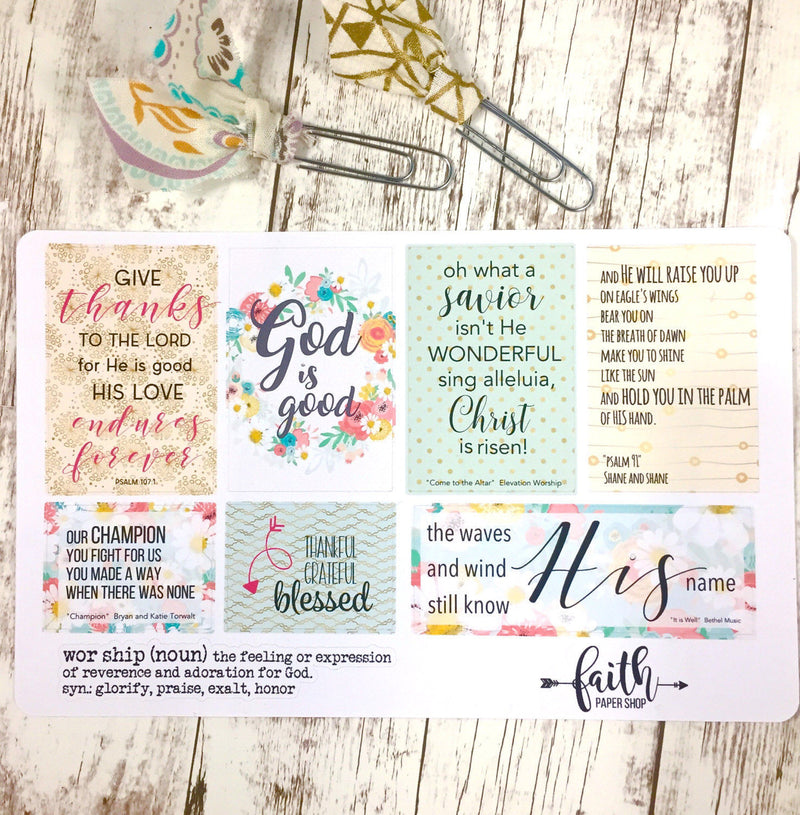 Faith Stickers - Worship - Faith Paper Shop