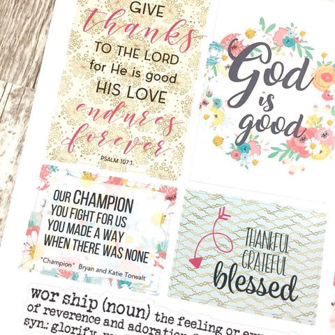 Faith Stickers - Worship
