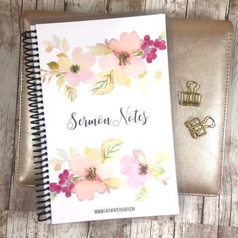 Sermon Notes Journal - Delicate Dogwoods