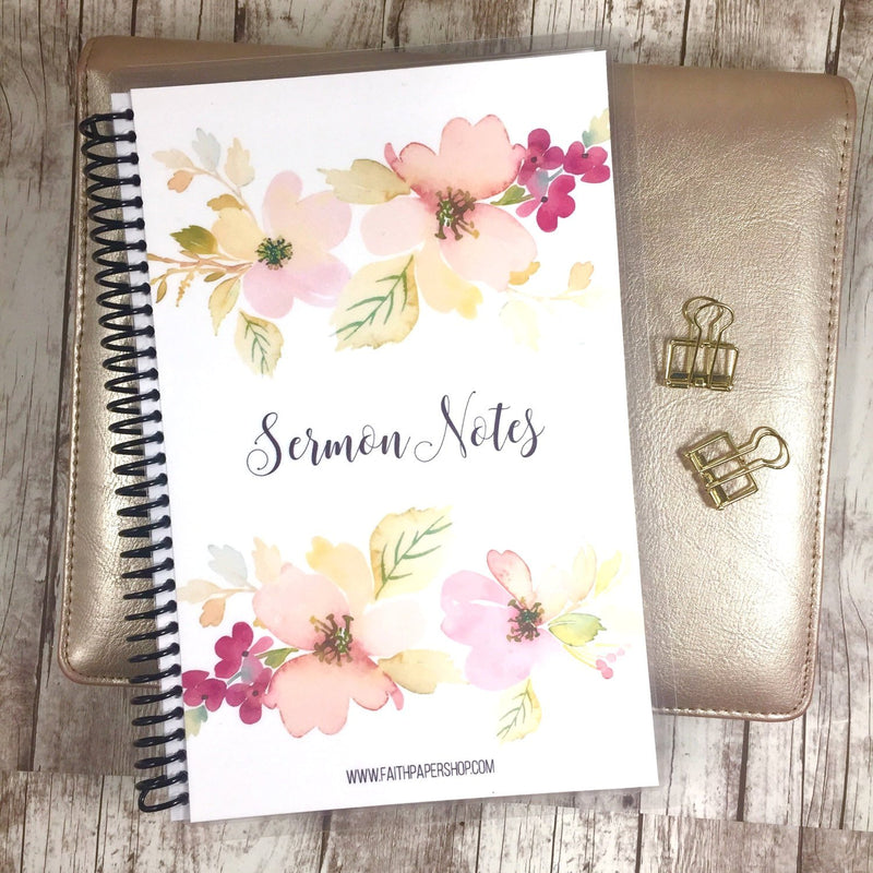 Sermon Notes Journal - Delicate Dogwoods - Faith Paper Shop