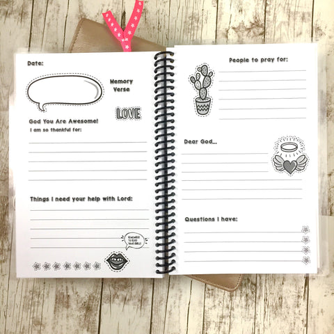 Girls Prayer Journal - Trendy Patches
