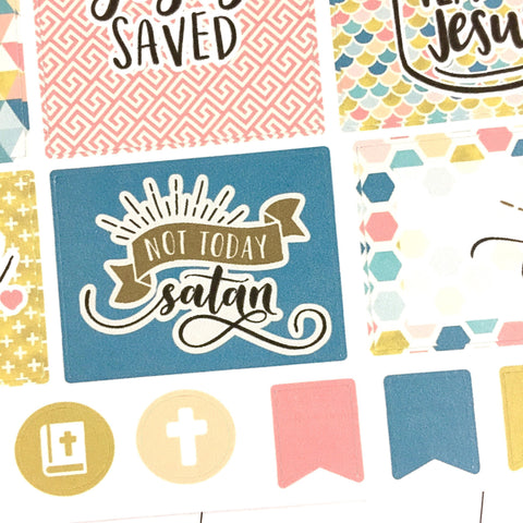 Faith Stickers - Gold Grace
