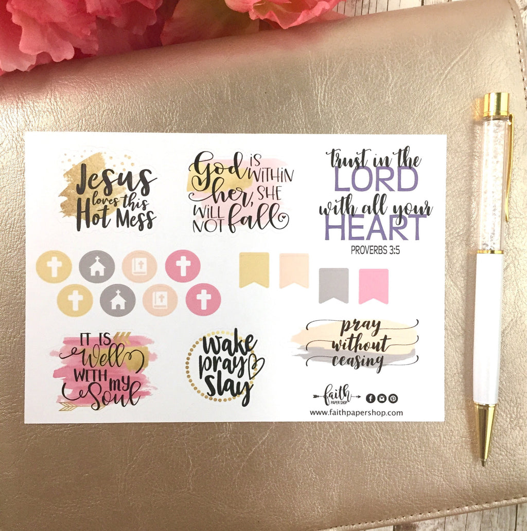Jesus Loves This Hot Mess! - Scripture Stickers - Faith Paper Shop