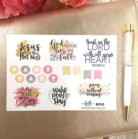 Jesus Loves This Hot Mess! - Scripture Stickers